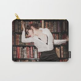 """Hot for Reading"" - The Playful Pinup - Sexy Librarian Pin-up Girl by Maxwell H. Johnson Carry-All Pouch"