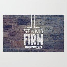 Stand Firm - 1 Corinthians 16:13 Rug