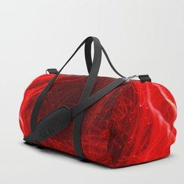 Red Flower Fiber Optic Light Painting Duffle Bag