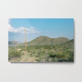 Rural Lines Metal Print
