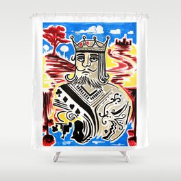 King Of Cards Shower Curtain