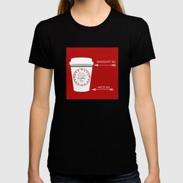 Christmas Naughty Nice Coffee Cup T-shirt