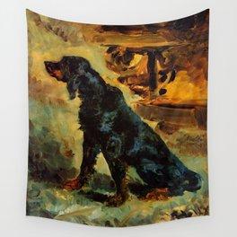 """Henri de Toulouse-Lautrec """"Dun, a Gordon Setter Belonging to Comte Alphonse de Toulouse Lautrec"""" Wall Tapestry"""