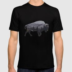 The American Bison Black MEDIUM Mens Fitted Tee