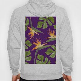 Monstera - and 3 Paradise Flowers Hoody