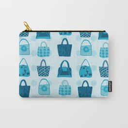 Handbag Heven Blues with Spots Carry-All Pouch