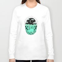 camping Long Sleeve T-shirts featuring Gone Camping by Rachel Bennett Designs