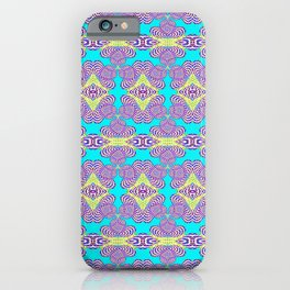 Trippy Funky Pastel Vintage Retro Psychedelic Print iPhone Case