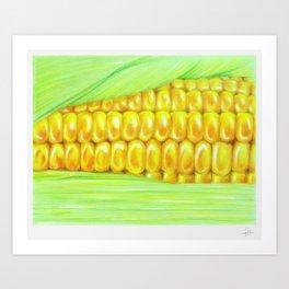 Color pencil Corn Art Print