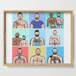 Beard Boy: Boys, Boys, Boys Serving Tray