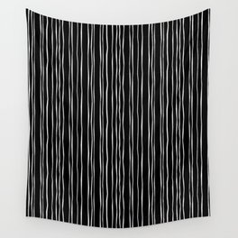 Wide Black Stripe Wall Tapestry