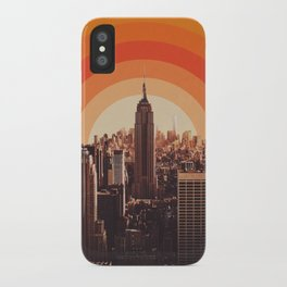 Sunset in New York City iPhone Case