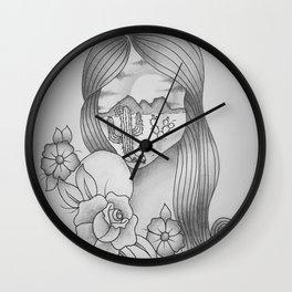 Desert Girl Wall Clock