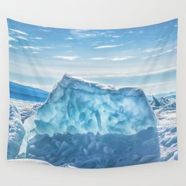 Pressure ridge of lake Baikal Wall Tapestry