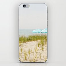 Blue Beach Umbrellas iPhone & iPod Skin