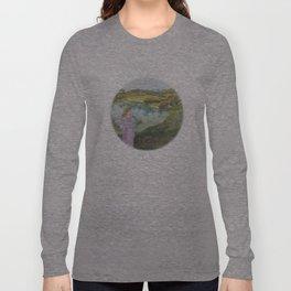 Girl Setting a Bird Free Long Sleeve T-shirt