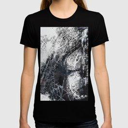 Eiffel tower painting  - Paris Map T-shirt