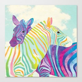 Shanti Sparrow: Lola and Frankie the Zebras Canvas Print