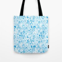 numbers Tote Bags featuring Numbers by Ramses Pujol