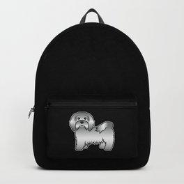 Silver Havanese Bichon Havanais Cute Cartoon Dog Illustration Backpack