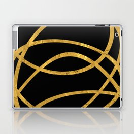 Golden Arcs - Abstract Laptop & iPad Skin