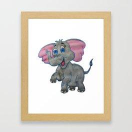 The Happy Elephant Framed Art Print