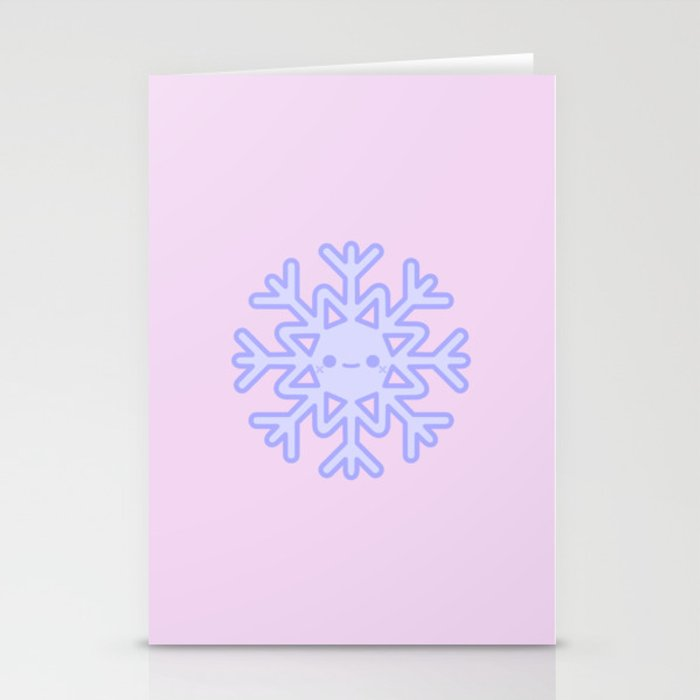 cute snowflake stationery cards by peppermintpopuk society6