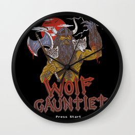 Wolf Gauntlet Wall Clock