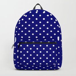 Dots (White/Navy Blue) Backpack