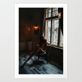 Nude by Nikolay Ivanov Art Print