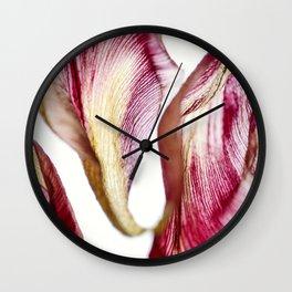 Tulip Flower Petals Wall Clock