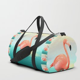 Sunset Flamingo Duffle Bag