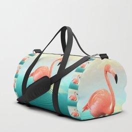 Sunset Flamingo Duffle Bag