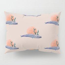 Blue whale sunset Pillow Sham