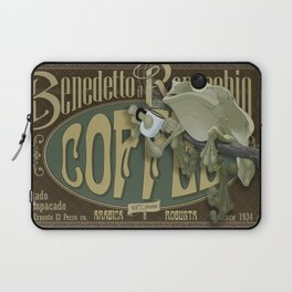 Frog & Coffee by Paulo Coruja Laptop Sleeve