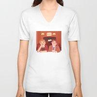 bar V-neck T-shirts featuring bar by Lauren Steele