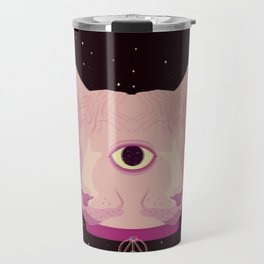 Two-Faced Sphynx From Outer Space Travel Mug