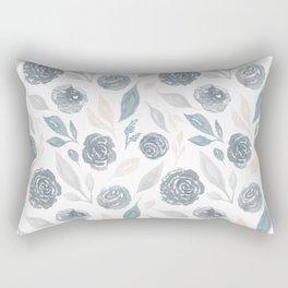 Watercolor Rose Garden Rectangular Pillow