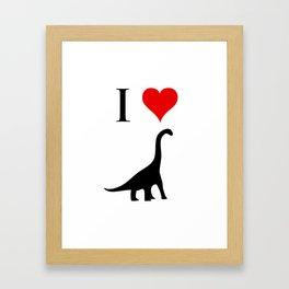 I Love Dinosaurs - Brachiosaurus Framed Art Print
