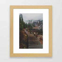Foggy Lake 22, Washington Framed Art Print