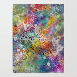 PAINT STAINED ABSTRACT Poster