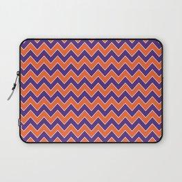 Orange and purple clemson chevron stripes university college alumni football fan gifts Laptop Sleeve