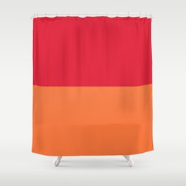 Raspberry Peach Orange Shower Curtain