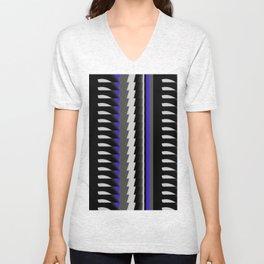 Interesting Unbalanced Stripes Unisex V-Neck