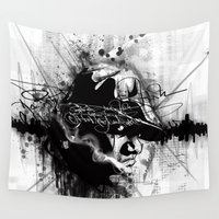 biggie Wall Tapestries featuring Relax and Take Notes - Biggie Illustration by Skillmatik by Mr Skillmatik