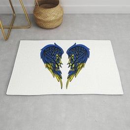 Ukrainian wings art Rug