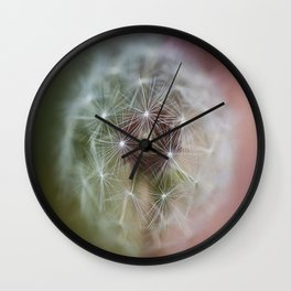 Dandelion Italian Flag Wall Clock