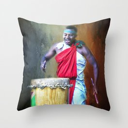 Let There Be Drums Throw Pillow