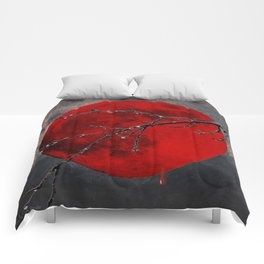 Modern Blood Red Moon Rain Gothic Decor A175 Comforters