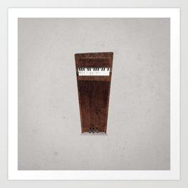 Lonely Piano Art Print